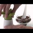 Młynek do pieprzu i przypraw z solniczką 19,5 cm Koziol Pi:P zielony KZ-2980513