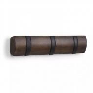 Mocowany panel z uchwytami 3 cz. Umbra Flip drewno / czarny