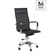 MODESTO fotel biurowy PROFIL SIATKA czarny - tkanina, chrom