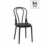 MODESTO krzesło TONI czarne - polipropylen