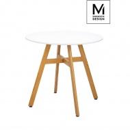 MODESTO stół FLAT FI 80 biały - blat MDF, imitacja drewna