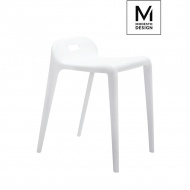 MODESTO stołek GRIP biały - polipropylen