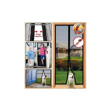 Moskitiera na drzwi Magic Mesh z magnesami biała