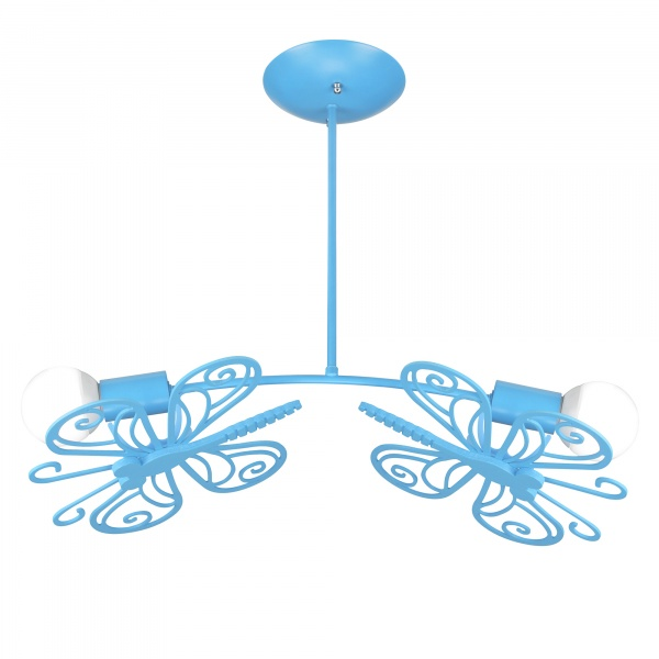 Motylek 2 wiszący niebieski LP-14031/2P NIEBIESKI
