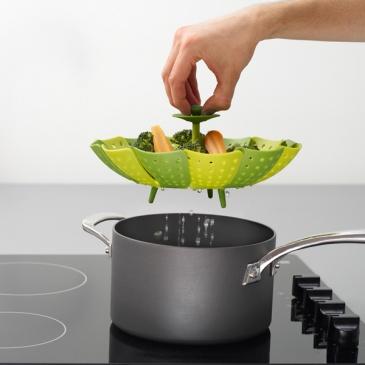 Naczynie do gotowania na parze Joseph Joseph Lotus zielone