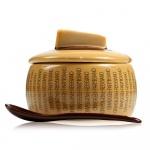 Naczynie do sera z łyżką 9,5x10,5 cm Boska Parmigiano Reggiano jasno-brązowe