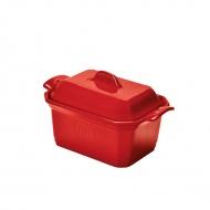 Naczynie do terriny lub pasztetu z praską 600ml Emile Henry małe czerwone