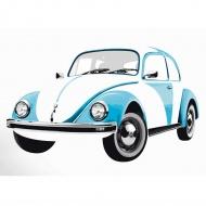 Naklejka ścienna Beetle Blue 135x81 cm BRISA VW kolorowa
