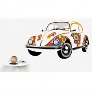 Naklejka ścienna Beetle Flower 135x81 cm BRISA VW kolorowa