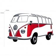 Naklejka ścienna Classic Red 180x120 cm BRISA VW kolorowa