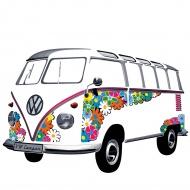Naklejka ścienna Flower Power 180x120 cm BRISA VW kolorowa
