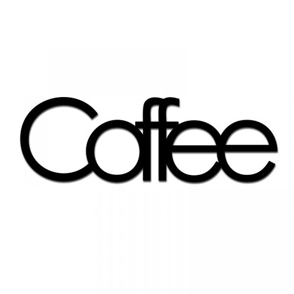 Napis 3D na ścianę dekoracyjny DekoSign COFFEE czarny COFFE1-1