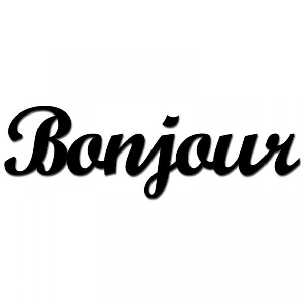 Napis 3D na ścianę DekoSign BONJOUR czarny BONJOUR1-1