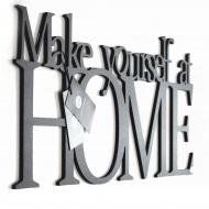 Napis 3D na ścianę DekoSign MAKE YOURSELF AT HOME czarny