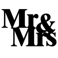 Napis 3D na ścianę DekoSign MR&MRS czarny