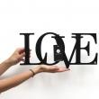 Napis na ścianę dekoracyjny DekoSign LOVE czarny LOVE1-1