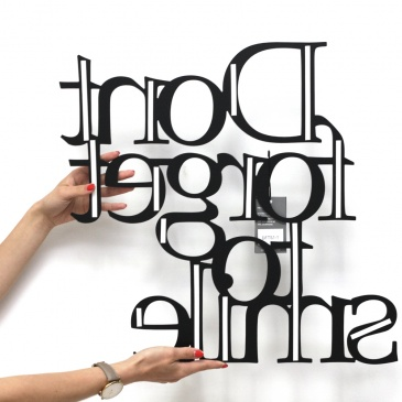 Napis na ścianę DekoSign Dont forget to Napis na ścianę DekoSign Dont forget to smilesmile