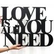 Napis na ścianę DekoSign LOVE IS ALL YOU NEED czarny LIAYN1-1