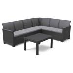 Narożnik Ogrodowy EMMA 6S Big Table : Kolor - grafit/szary