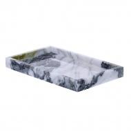 Niebieska taca Marble Mint Grey 25x15x2cm
