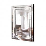 Nina 120x80 - prostokątne lustro dekoracyjne w ramie lustrzanej