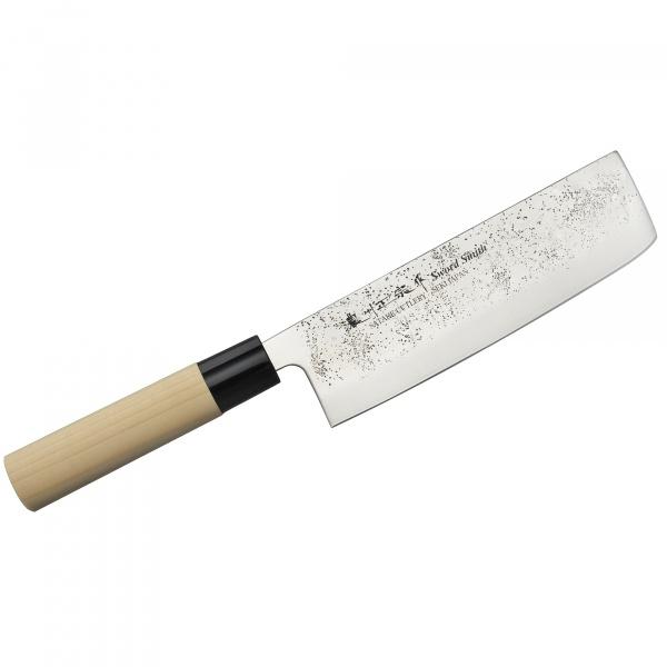 Nóż do ziół i warzyw 16cm Satake Nashiji Natural Nakiri HK-801-423