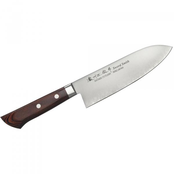 Nóż Mahogany Santoku 17cm Satake Unique  HK-801-133