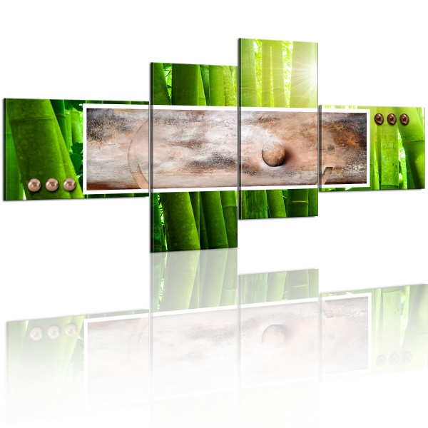 Obraz - Abstrakcja w bambusie (200x92 cm) A0-N1191-DKX