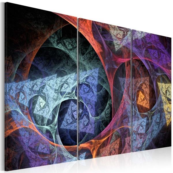 Obraz - Abstrakcja w tajemniczych barwach (60x40 cm) A0-N1357