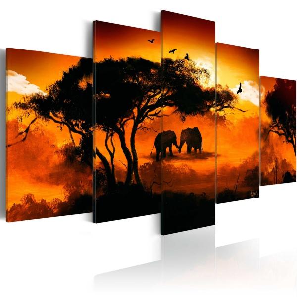 Obraz - Afrykańska miłość (100x50 cm) A0-N1054