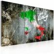Obraz - Artystyczna mapa Włoch - tryptyk A0-N2119