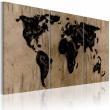 Obraz - Atramentowa mapa świata A0-N2025