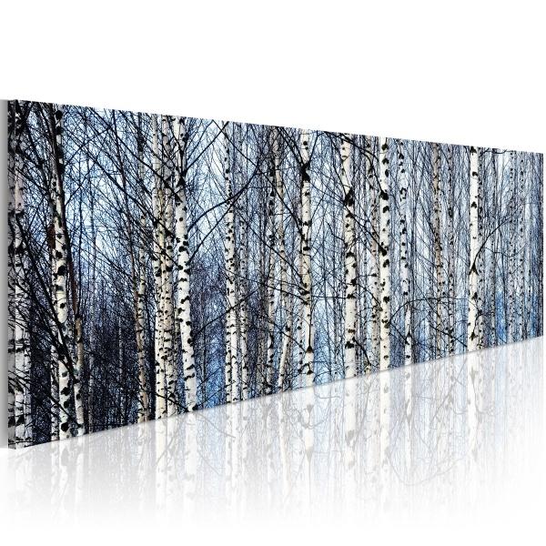 Obraz - Białe brzozy (120x40 cm) A0-N1220