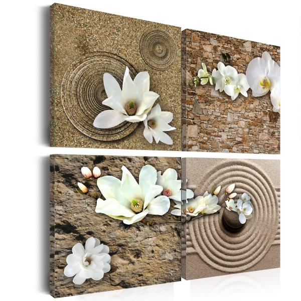 Obraz - Białe kwiaty (40x40 cm) A0-N1254