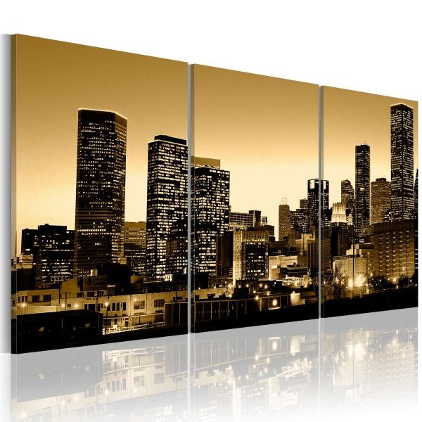 Obraz - Blask w oknach miasta (120x60 cm) A0-N1170-DKX