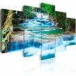 Obraz - Błękitny wodospad w Kanchanaburi, Tajlandia A0-N2776