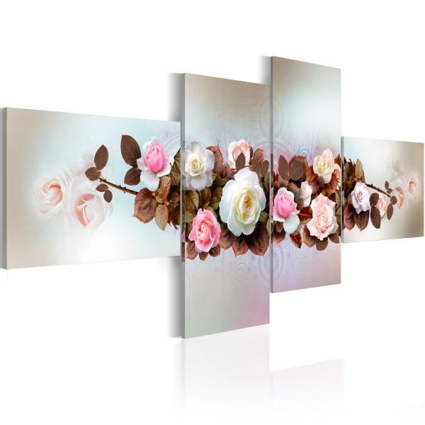 Obraz - Bukiet z różami (100x45 cm) A0-N1115