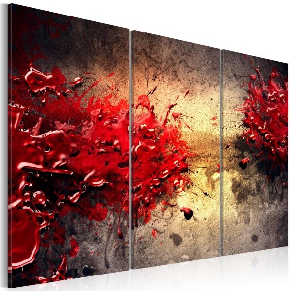 Obraz - Czerwony splash (60x40 cm) A0-N1356