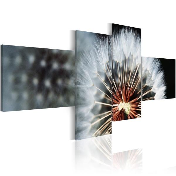 Obraz - Dmuchawiec - 4 części (100x45 cm) A0-N1324