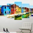 Obraz - Domy w kolorach tęczy A0-N3069