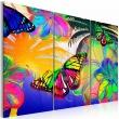 Obraz - Egzotyczne motyle - tryptyk A0-N2689