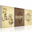 Obraz - Faith, Hope & Love A0-N2905
