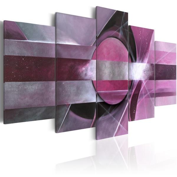 Obraz - Fioletowa abstrakcja (100x50 cm) A0-N1142