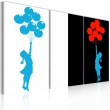 Obraz - Floating balloon girl - triptych A0-N2223