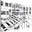 Obraz - Futurystyczna stacja kolejowa - black and white A0-N2211