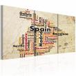 Obraz - Hiszpania: mapa w kolorach flagi narodowej A0-N2100