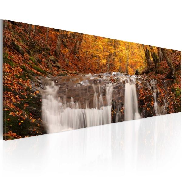 Obraz - Jesień i wodospad (120x40 cm) A0-N1204