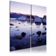 Obraz - Kamienisty brzeg alpejskiego jeziora A0-N1934