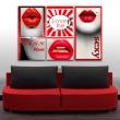 Obraz - Kiss me! Love me! A0-N2819