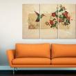 Obraz - Koliber i róże A0-N2875